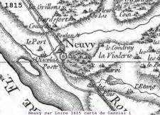 1815 carte de Cassini 1