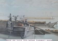 1850 bateau transport neuvy